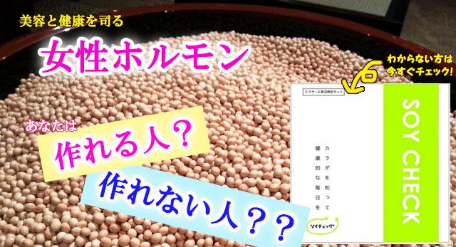 エクオール郵送検査「ソイチェック」 ~あなたは大豆イソフラボンから女性ホルモンをつくれる人?~